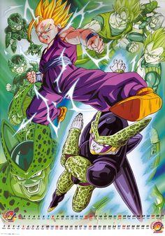 Gohan Cell Goku Trunks Vegeta Piccolo