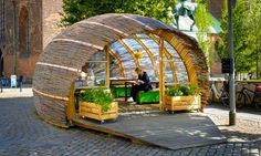 Danish architect, Steffen Impgaard has created The Green Embassy, a wooden garden hut open to the public to encourage the thrill of urban gardening.