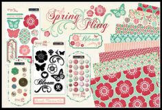 Teresa Collins SPRING FLING Collection all paper and accessories available
