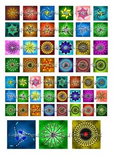 Fancy Spirograph 1 x 1 digital collage sheets by graphicland, $2.99