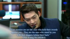 Kim wo bin as choi young do Heirs Korean Drama, Korean Drama Quotes, The Heirs, Drama Korea, Korean Dramas, K Quotes, Done Quotes, Lee Min Ho Kdrama, Keanu Reeves Quotes