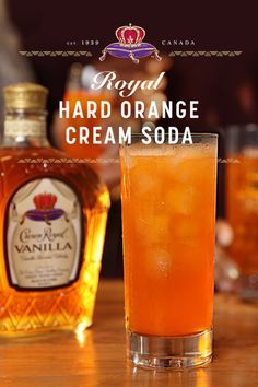 "When we think of cream soda, we think ""let's add some Crown to this."" Try this sweet spin to rethink what you know about a hard soda. Pour oz of our deluxe smoothness into 4 oz of orange soda. Liquor Drinks, Cocktail Drinks, Bourbon Drinks, Cocktail Ideas, Whisky, Coconut Rum Drinks, Crown Royal Drinks, Alcholic Drinks, Alcoholic Beverages"