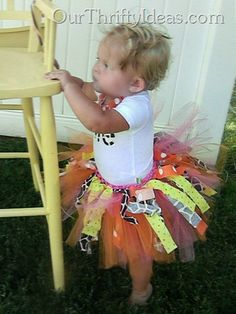 Our Thrifty Ideas: Tulle and Fabric Tutu Tutorial. Okay, so it's NOT for Nolan. But I will have a niece one day :D Can't wait! Fabric Tutu, Diy Tutu, Tutu Tutorial, Crochet Cross, Irish Crochet, Fabric Strips, Diy Costumes, Costume Ideas, My Little Girl
