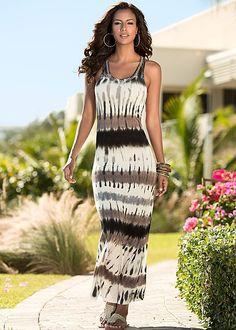 Blending in is never an option. Venus Racerback Tie Dye Dress with Rhinestone Flat.