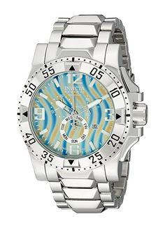 Invicta Pulsera de acero 48mm & Case S. Sapphire Esfera Gris 15973-Reloj cronógrafo de cuarzo suizo