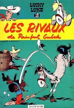 Lucky Luke -19- Les rivaux de Painful Gulch  -  1962