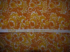 Cook collection  Tampella  Fabric  Yellow / White / by ShabbyRough