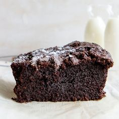 For when you need a lot of chocolate and a little cake. . Ingredients: Just under 1 cup (200 g) coconut oil or butter, softened, 1 and ⅔ cup (350 g) sugar (I use raw, but brown or granulated sugar should work fine), 2 eggs, 100-110 g (4 oz) dark chocolate, melted (in the microwave/over a double boiler), 1 tbsp cocoa powder, 1 tsp baking soda, ½ tsp salt, 1 cup hot coffee (1 cup boiling water + 2 tsp instant espresso powder- or just water if you don't like coffee), 1 and ⅓ cup all-purpose…