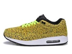 Ultima collezione donne nike air max 1 fb scarpe da corsa leopardate agrume gialle,bianche