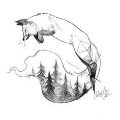 #ilustracion #lapiz #zorro #tatuaje #diseñotatuaje #illustration #pencil #fox…