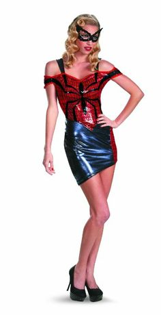 Amazon.com: Disguise Women Of Marvel Spider-Man Spider-Girl Glam Womens Adult Costume, Blue/Red/Black, Small/4-6: Clothing