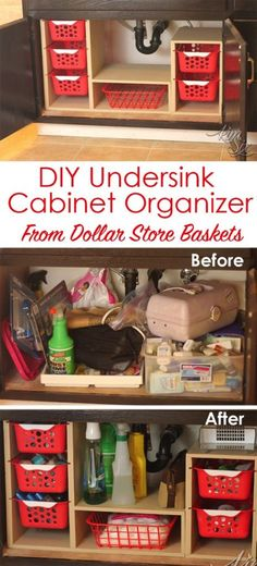 Undersink Cabinet Organizer with Pull Out Baskets – Lbibo
