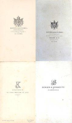 1)ROYER & AUFIÈRE  - Le Caire 2)DÉSIRÉ & Cie, successeur de ROYER & AUFIÈRE  - Le Caire 3)KOZLOWSKI Justin, Port Saïd 4)SCHIER & SCHOEFFT, Alexandrie