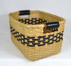 Large Woven Reed Storage Basket or Bin with by BrightExpectations, $52.00