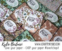 Kylie Bertucci - #loveitchopit - Make 144 cards from ONE PACK of Specialty Designer Series Paper. Find out more by clicking on the image. #stampinup #cardmaking #handmadecard #rubberstamps #stamping #kyliebertucci #loveitchopit #makeacardsendacard #randomactsofkindness
