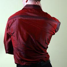 44f0148b3145e Nawab Red Embroidered Mens Silk Shirt