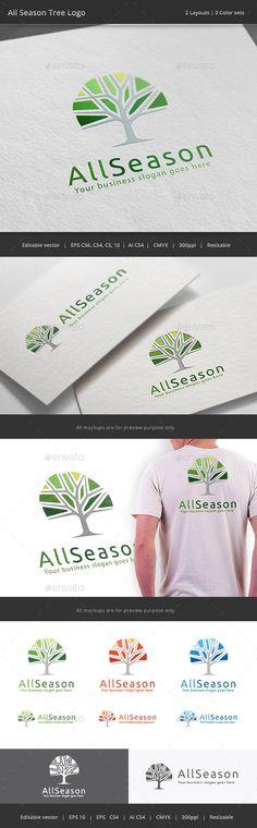 All Season Tree Logo - Nature Logo Templates