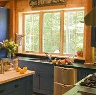 blue peach kitchen