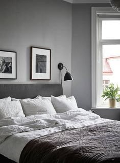 grey bedroom | photo jonas berg