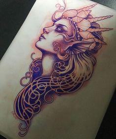 More … Mermaid tattoo – Fashion Tattoos Tattoo Femeninos, Backpiece Tattoo, Tatoo Art, Tattoo Fonts, Piercing Tattoo, Tattoo Flash, Future Tattoos, Love Tattoos, Body Art Tattoos