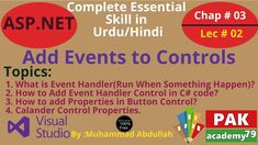 Net Add Events to Controls Topic: Add Events to Controls What is Event Handler(Run When Something Happen)? How to Add Event Handler Control in C# c. What Is Event, Teaching Methods, Web Application, Textbook, Coding, Events, Ads, Shit Happens, Class Books