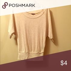 Tan sweater Tan loose fitting in the top sweater Rue 21 Sweaters Crew & Scoop Necks