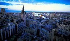 View over Aberdeen in Scotland.