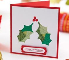 Iris Folding Christmas Bauble & Holly Cards