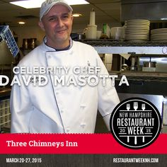 Celebrity Chef Spotlight – David Masotta (Three Chimneys Inn) | Restaurant Week New Hampshire