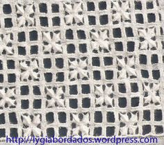 Flor de Lótus Looks like a pinwheel with the center spoke wrapped longer. Drawn Thread, Thread Work, Hardanger Embroidery, Embroidery Patterns, Lace Doilies, Needle Lace, Cutwork, Needlepoint, Tatting