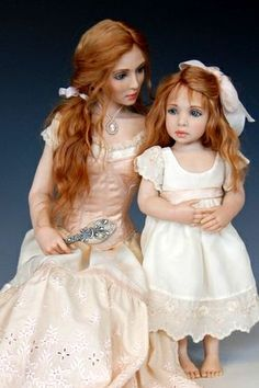 Mommy and daughter dolls