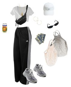 """""""Groceries"""" by niinasmith604 on Polyvore featuring WithChic, adidas, ASOS, New Balance, Lana, Versace, Soicher Marin and Yvonne Koné"""