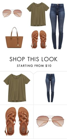 """""""Untitled #397"""" by riah-xo ❤ liked on Polyvore featuring Lee, J Brand, Billabong, H&M and MICHAEL Michael Kors"""