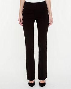 Bengaline Flare Leg Pant - A slightly flared bengaline pant brings feminine elegance to your office style.
