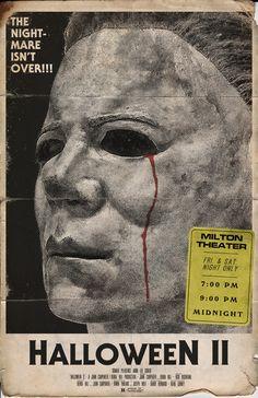 Michael Myers Halloween II Movie Poster 11x17 by Trevor Dunt