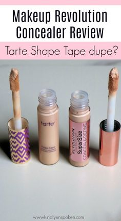 Is the Makeup Revolution Conceal & Define Concealer a dupe for the Tarte Shape Tape? Find out in my Dupe Makeup, Makeup Tarte, Makeup Geek, Makeup Brushes, Maskcara Makeup, Eyeshadow Dupes, Lipstick Dupes, Elf Makeup, Tarte Shape Tape Dupe