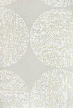 Luna Wallpaper Light Grey wallpaper, with circular