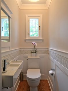 Bathroom Ideas Themes out Small Bathroom Shower Renovations above Bathroom Design Ideas With Window In Shower via Beach House Bathroom Ideas Pictures Ideas Baños, Decor Ideas, Tile Ideas, Ideas Para, Downstairs Toilet, Downstairs Cloakroom, Bathroom Renos, Wainscoting Bathroom, Master Bathroom