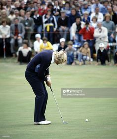 Jack Nicklaus of the United States putting to win the British Open Golf Championship, held at the St Andrews Golf Club near Edinburgh on 15th July 1978. Nicklaus beat Ben Crenshaw, Ray Floyd, Tom Kite and Simon Owen by two strokes…  Credit: Phil Sheldon/Popperfoto