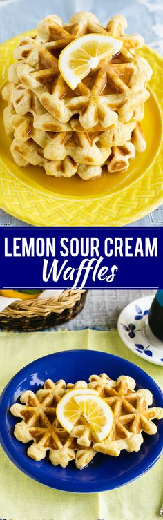 lemon sour cream waffles this recipe for lemon waffles made with sour ...
