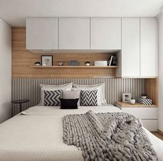 Design interior home apartments bookshelves ideas Bedroom Bed Design, Home Room Design, Home Design Decor, Bedroom Decor, Interior Design, Apartment Bookshelves, Bedroom Cupboard Designs, Small Master Bedroom, Apartment Interior