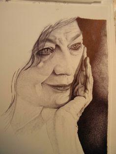 Graziella Lonardi Buontempo disegno a BIC su carta, 24x33cm, Roma 2011
