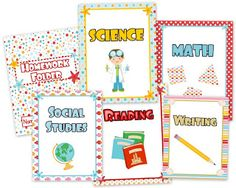 Beach Ocean Classroom Materials Pack - If you are considering the ocean/beach theme this year, this pack will be a bright and colorful addition to your classroom!  Pack includes: * Alphabet A to Z * 6 Binder Covers * Jobs Display * Birthday Poster * Birthday Name Cards and Month Headers * Calendar Title, Month Headers, 3 patterned date sets, and days of the week * Grouping Cards * 12 Name Tag Designs for early and upper elementary * 10 Seasonal Mini-Notes - fall,  $