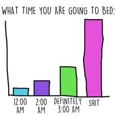 Because bedtime to you is a very ~flexible~ time of day...