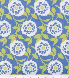 Robert Allen @ Home Print Fabric-Mum Floral Hydrangea
