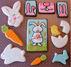 Tricha cookies - love the rectangular snippets of bunny + the central cookie of the bunny