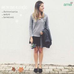 Ame em todas as estações... ❤️ #lojaamei #cinza #preto #outono #ame #novidades