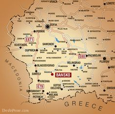 Map South-West Bulgaria