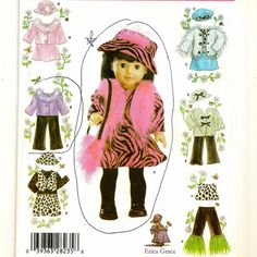 A Doll Clothes Pattern for an 18 Inch Doll: Contemporary Wardrobe Includes Dress, Jacket, Skirt, Pants, and More