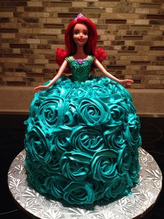 Ariel/Barbie princess cake :)